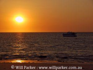 Sunset off Western Beach.