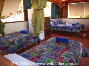Sleeping configuration - Log Cabin.