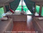 Family Safari Tent sleeping layout.